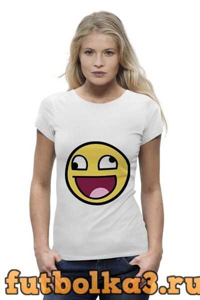 Футболка Awesome smile женская