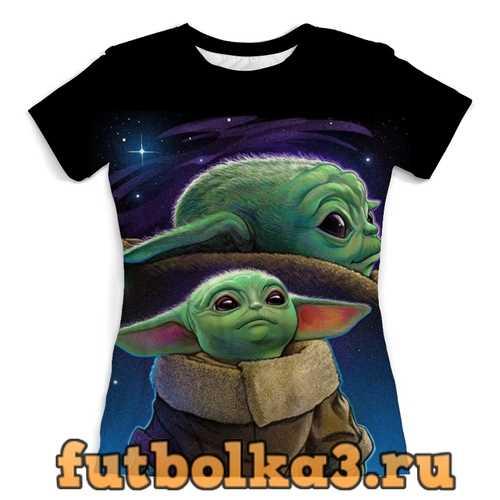 Футболка Baby Yoda (Mandalorian) женская