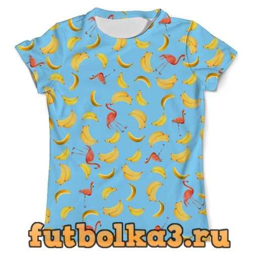 Футболка Бананы и фламинго мужская