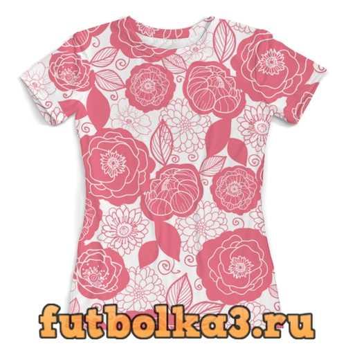 Футболка Бело-розовый женская