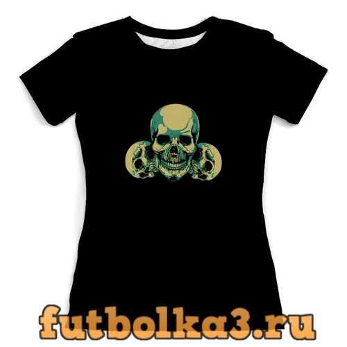 Футболка черепки женская