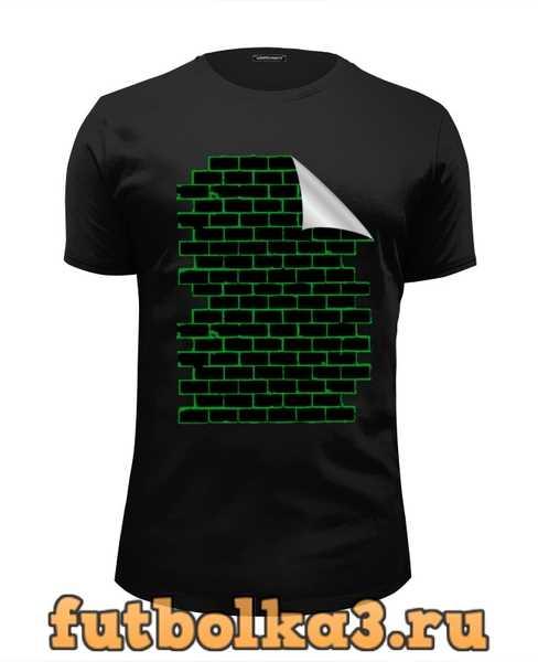 Футболка Черная кирпичная стена мужская