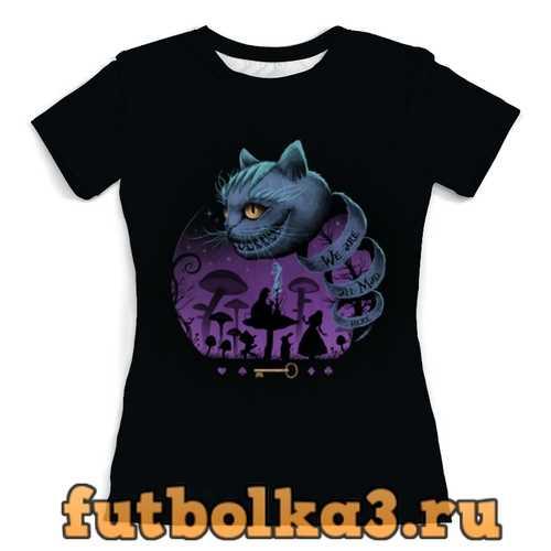 Футболка Чеширский котик женская