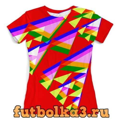 Футболка Colorfull triangle женская