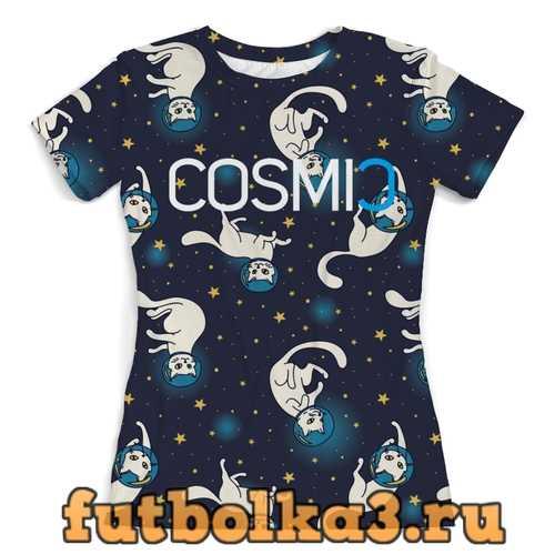 Футболка Cosmic Космик кошки женская