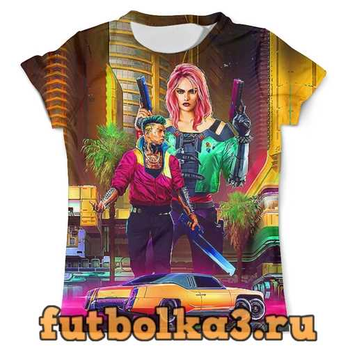 Футболка Cyberpunk-2077_ мужская