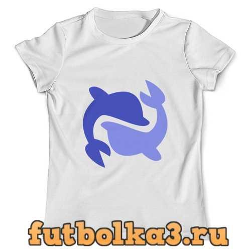 Футболка Дельфины мужская