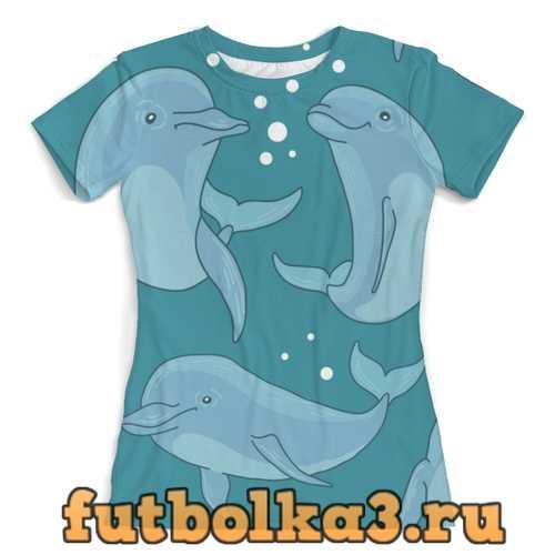 Футболка Дельфины женская