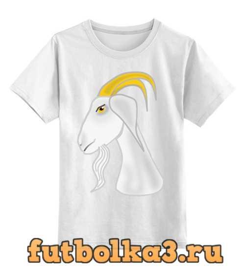 Футболка детская Голова белого козла