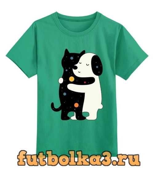 Футболка детская Котик и собачка