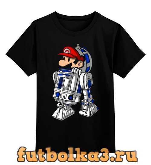 Футболка детская Марио и R2-D2