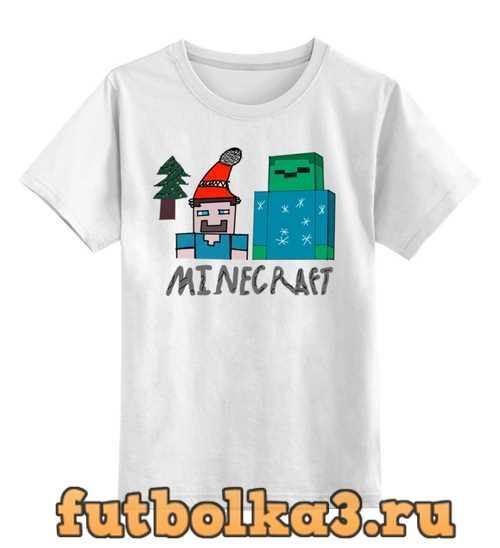 Футболка детская Новый год в Minecraft