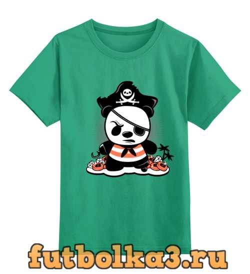 Футболка детская Панда пират