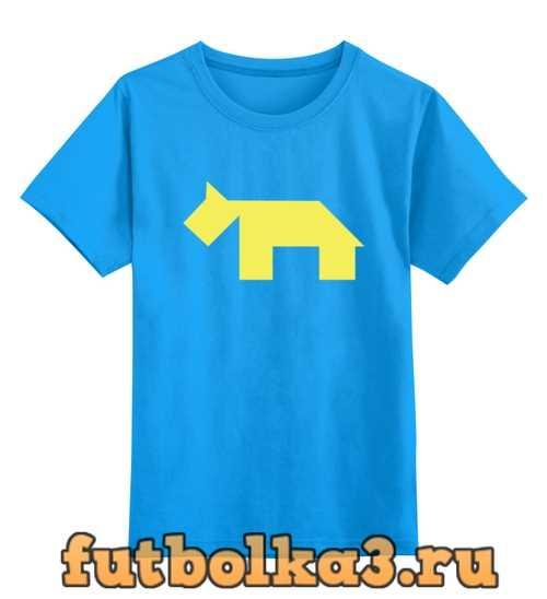 Футболка детская Жёлтая собака танграм