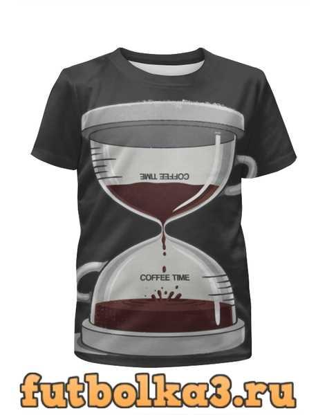 Футболка для девочек COFFEE TIME / Время Кофе