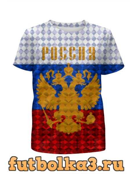 Футболка для девочек Герб России