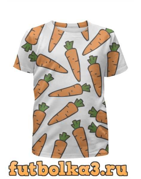 Футболка для девочек Морковки