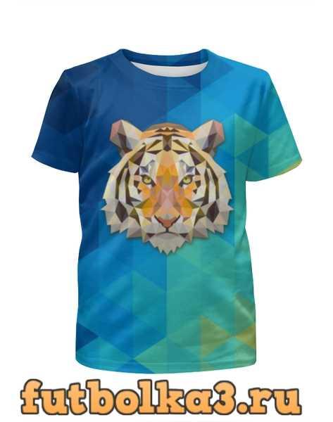 Футболка для девочек Полигональный тигр