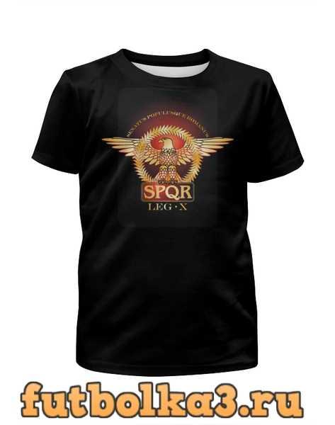 Футболка для девочек Символ Древнего Рима с орлом. SPQR.