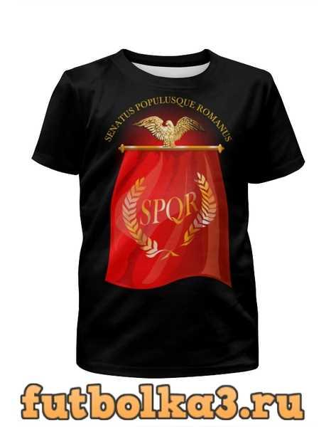 Футболка для мальчиков Символ Древнего Рима с орлом. SPQR.