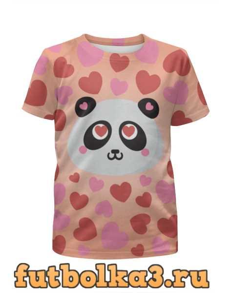 Футболка для мальчиков Влюбленная панда