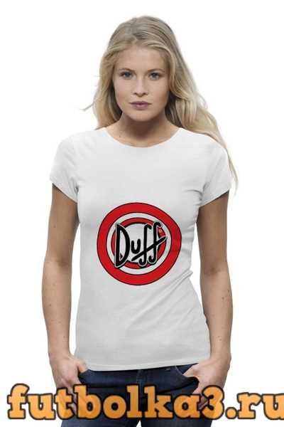Футболка Duff beer женская