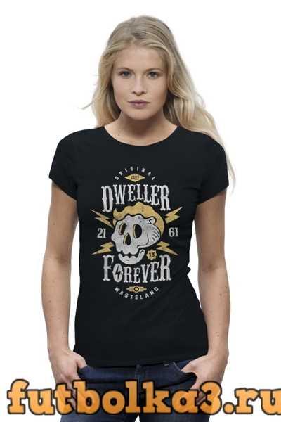 Футболка Fallout. Dweller forever женская