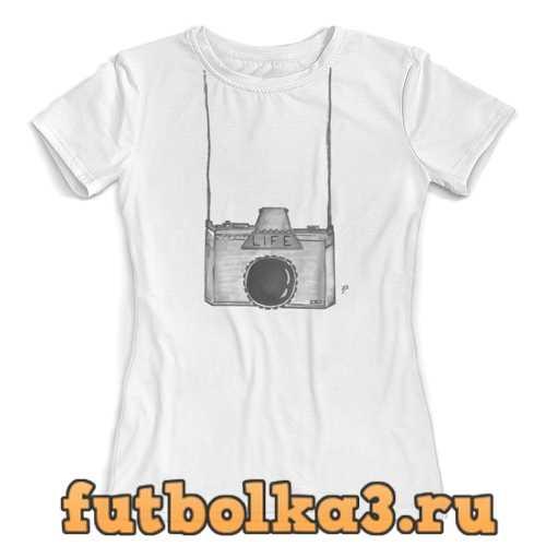 Футболка Фотоаппарат женская