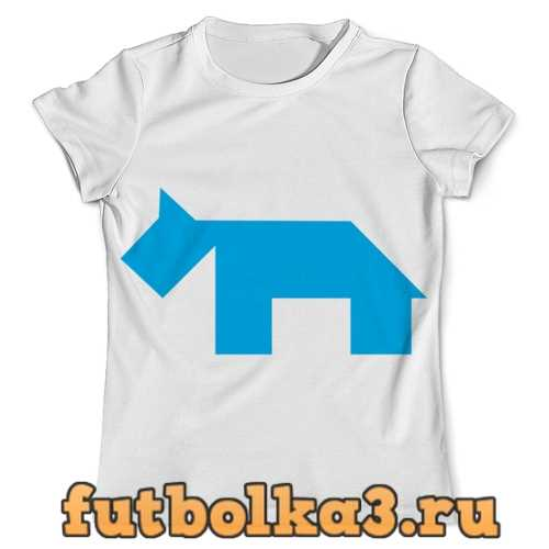 Футболка Голубая собака танграм мужская