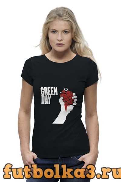 Футболка Green day женская