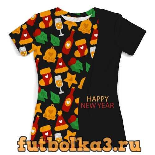 Футболка Happy New Year женская