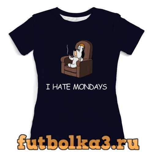 Футболка I hate mondays женская