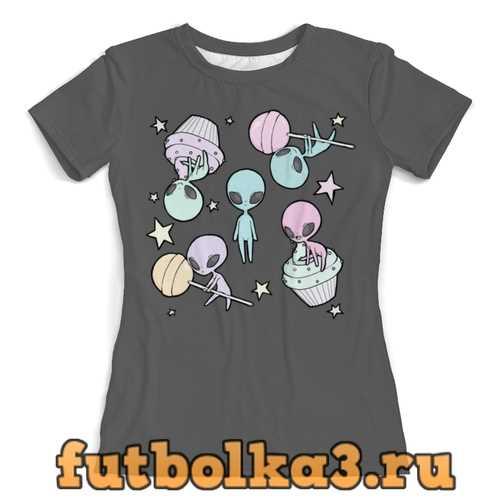 Футболка Инопланетные сладости женская