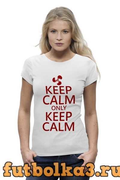 Футболка Keep calm женская