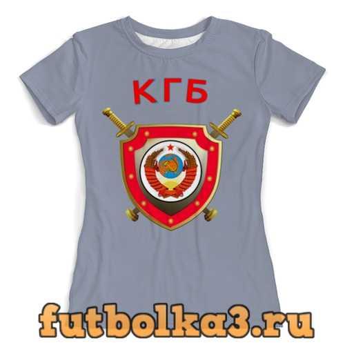 Футболка КГБ СССР женская
