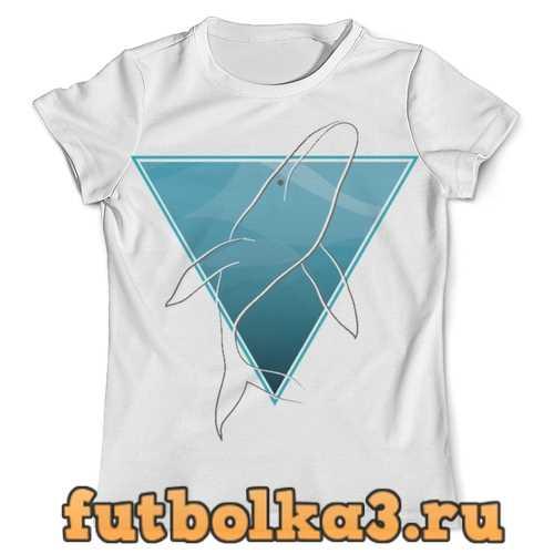 Футболка Кит в морском треугольнике мужская