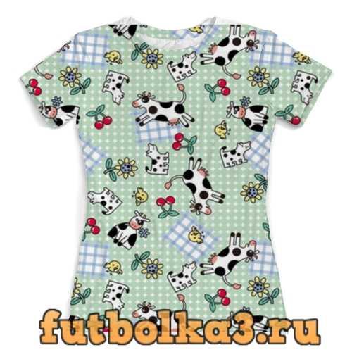 Футболка Коровки женская