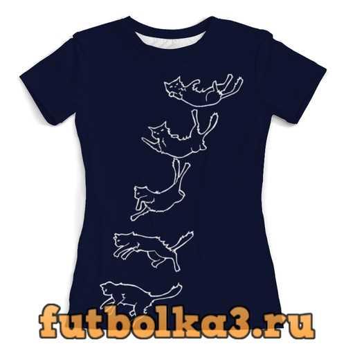 Футболка Кошки в полете женская
