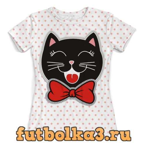 Футболка Котик женская