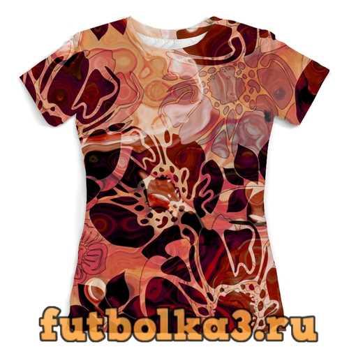 Футболка Красные лепестки женская