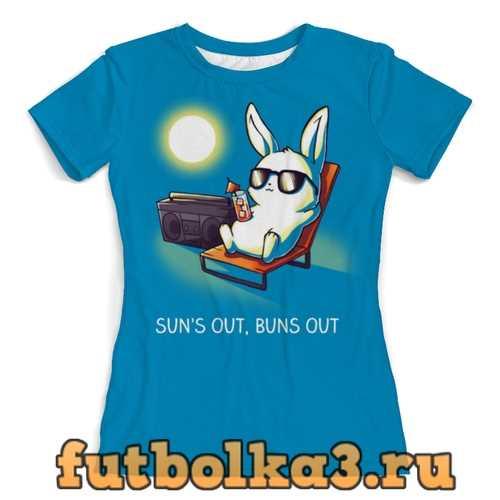 Футболка Кролик на отдыхе женская