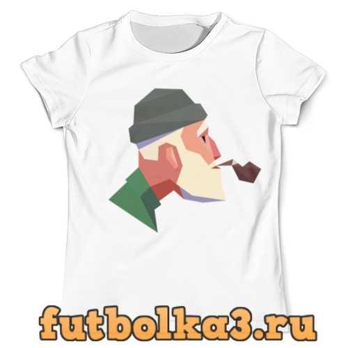 Футболка Курящий дедушка мужская