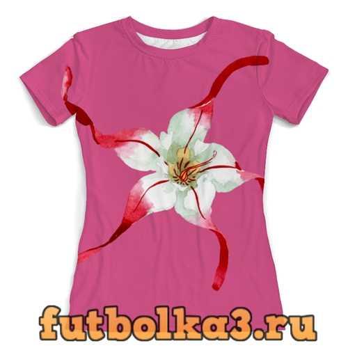 Футболка лилии женская
