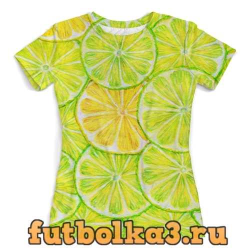 Футболка Лимонный лайм женская