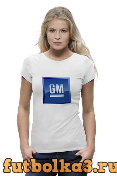 Футболка Логотип GM женская
