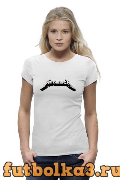 Футболка Логотип группы «Metallica» женская