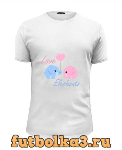 Футболка Love Elephants мужская