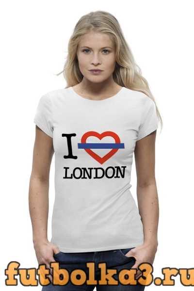 Футболка Люблю Лондон женская