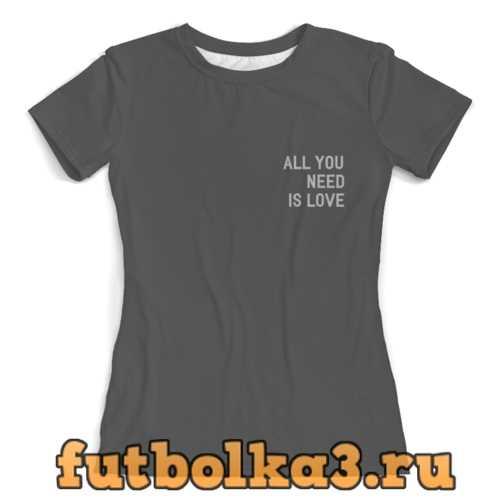 Футболка любовь женская