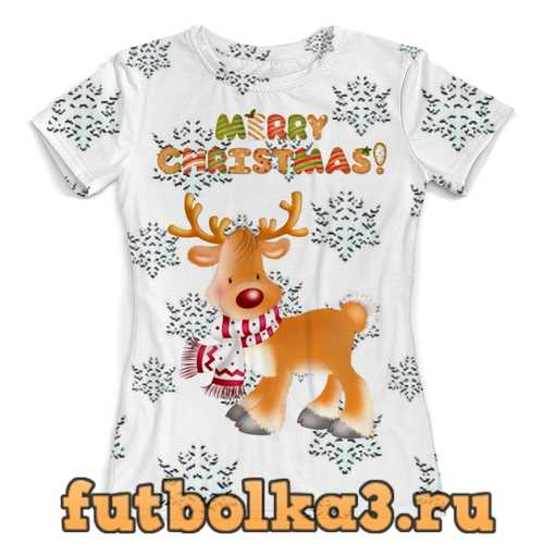 Футболка Merry Christmas! женская